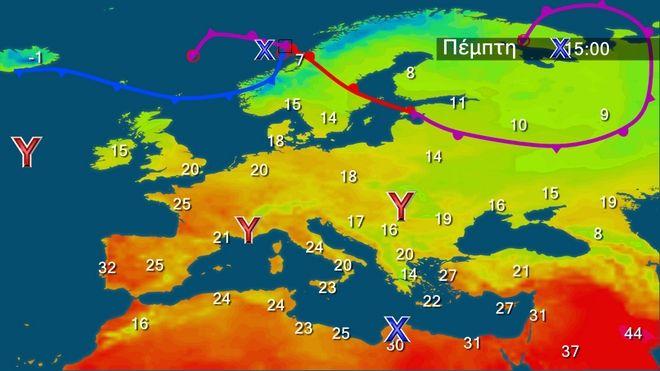 Θυελλώδεις άνεμοι στα ανατολικά και νότια - Έντονα φαινόμενα στα νότια