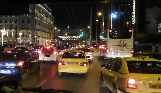 Κίνηση στο κέντρο της Αθήνας