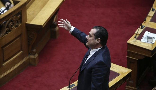 Greek Prime Minister Alexis Tsipras, answering questions about migrant policy at the parliament plenum, in Athens, on Feb 10, 2017 /             ,  10 , 2017