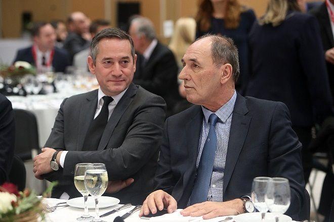 Thessaloniki Summit 2018: Ο υπουργός Περιβάλλοντος και Ενέργειας Γιώργος Σταθάκης και ο πρόεδρος του Ομίλου της 24Μedia Δημήτρης Μάρης
