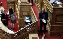 Βουλή: Αποχώρησε το ΜέΡΑ25 από τη διαδικασία της πρότασης δυσπιστίας