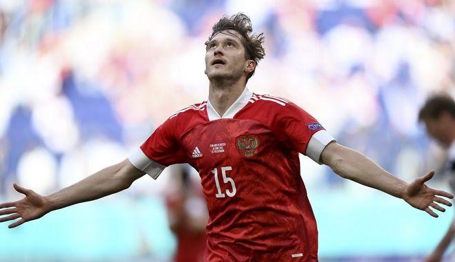 Ο σκόρερ του νικητήριου γκολ της Ρωσίας επί της Φινλανδίας στο Euro 2020, Αλεξέι Μίραντσουκ.