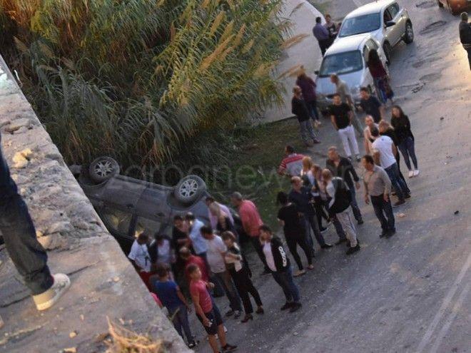 Κρήτη: Κινηματογραφική πτώση τζιπ από γέφυρα της Εθνικής Οδού