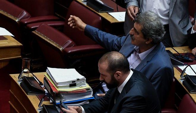 Φωτό αρχείου: Τζανακόπουλος και Πολάκης στη Βουλή