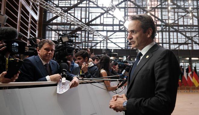Ο πρωθυπουργός Κυριάκος Μητσοτάκης σε Σύνοδο Κορυφής (Φωτογραφία αρχείου)