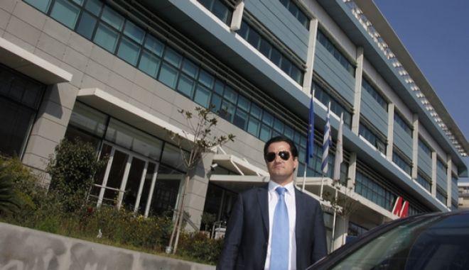 ΑΘΗΝΑ-Στα γραφεία της ΝΔ  σήμερα οι διαγραφέντες από το ΛΑ.Ο.Σ. βουλευτές, Μάκης Βορίδης και Αδωνις Γεωργιάδης (φωτο),τουσ υποδέχθηκε ο Γραμματέας της Κ.Ο. της Ν.Δ Κώστας Τασούλας.(EUROKINISSI-ΓΙΩΡΓΟΣ ΚΟΝΤΑΡΙΝΗΣ)