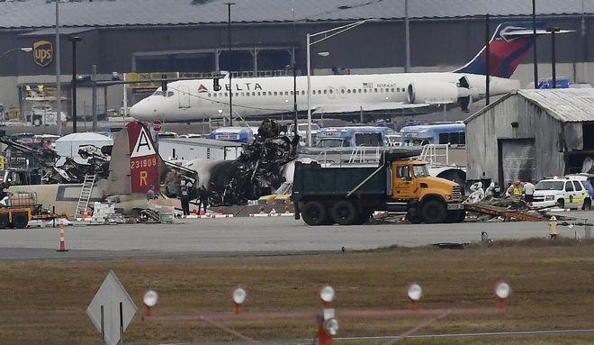 Συντριβή αεροπλάνου στο αεροδρόμιο του Κονέκτικατ