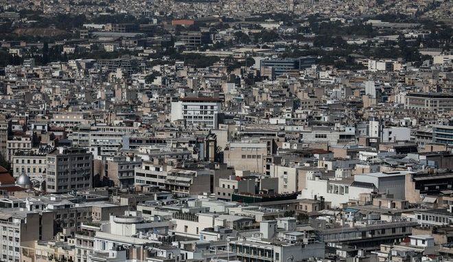 Γενική άποψη της Αθήνας με σπίτια