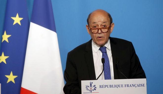 Ο Γάλλος υπουργός Εξωτερικών Ζαν-Ιβ Λε Ντριάν