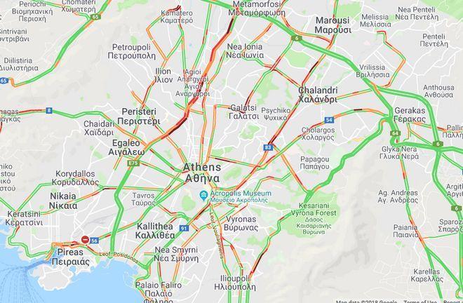 Κίνηση στους δρόμους της Αθήνας: Σε ποια σημεία υπάρχουν καθυστερήσεις