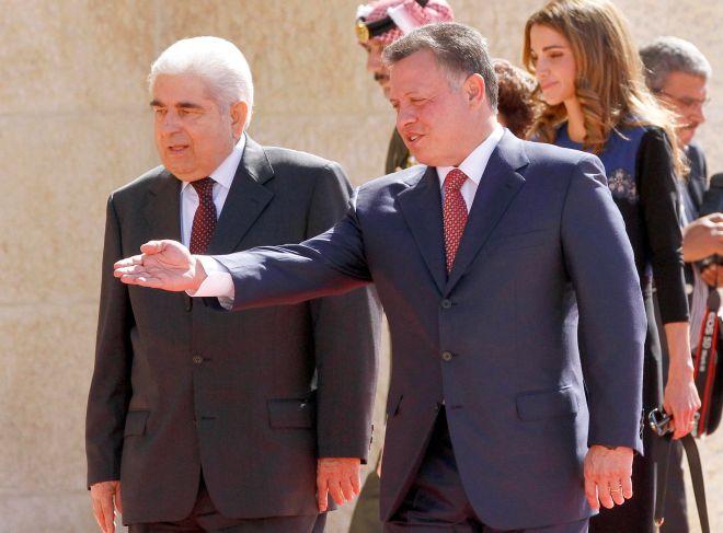 Δημήτρης Χριστόφιας και Αμπντουλάχ Β στην Ιορδανία (AP Photo Raad Adayleh)