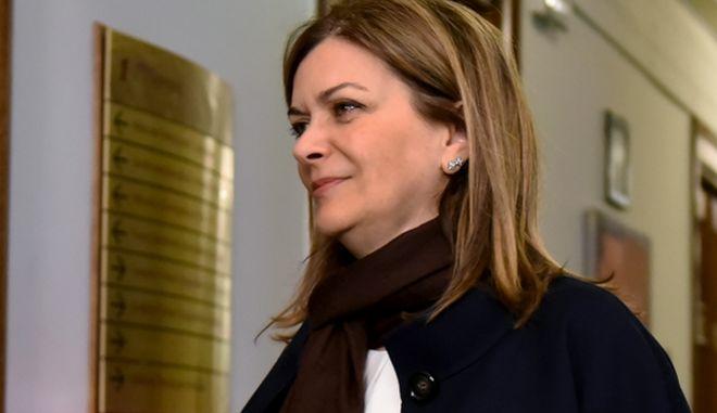 Στιγμιότυπο από την είσοδο των Υπουργών και Υφυπουργών για την συνεδρίαση του τυπουργικού συμβουλίου,Μ.Πέμπτη 13 Απριλίου 2017 (ΤΑΤΙΑΝΑ ΜΠΟΛΑΡΗ/EUROKINISSI)