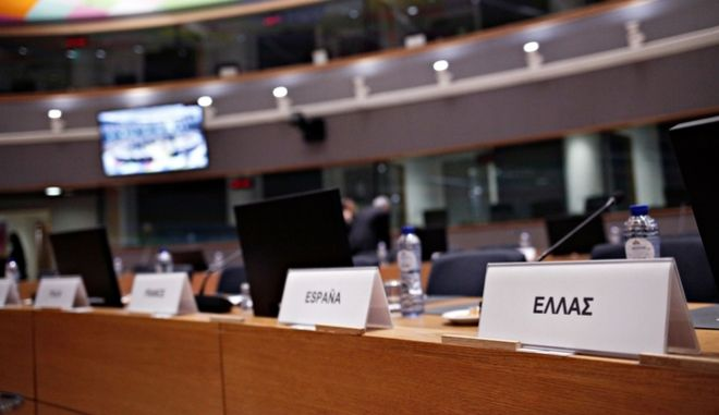 Eurogroup finance ministers meeting at the European Council in Brussels, Belgium on Feb. 19, 2018 /          19 , 2018