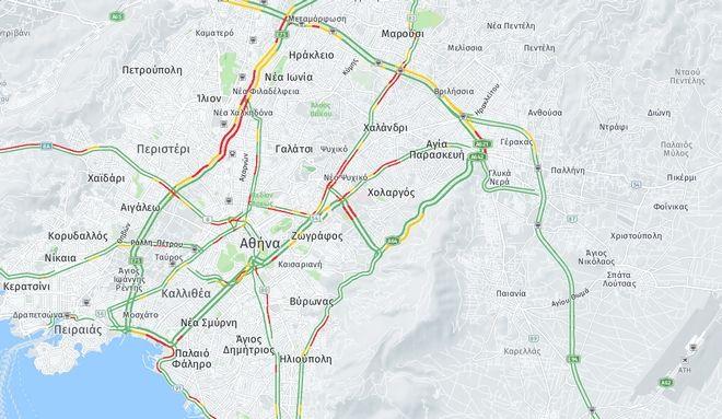 Κίνηση στους δρόμους: Κόλαση στην Κατεχάκη - Έσπασε αγωγός
