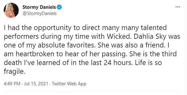 Νεκρή η πορνοστάρ Dahlia Sky - Βρέθηκε μέσα στο όχημά της