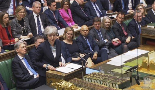 Στιγμιότυπο από το Βρετανικό Κοινοβούλιο