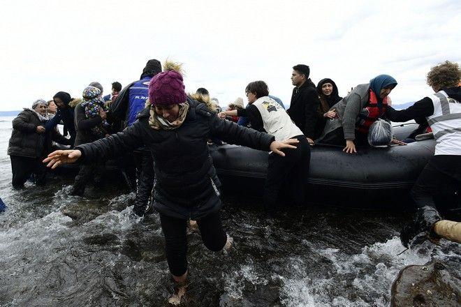 Μετανάστες από το Αφγανιστάν έφτασαν με βάρκα στη Σκάλα Συκαμνιάς στη Λέσβο (φωτογραφία αρχείου)