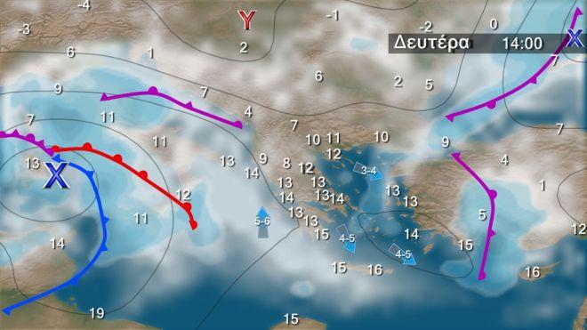 Βροχές και μικρή άνοδος της θερμοκρασίας τις επόμενες ημέρες