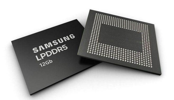 Η Samsung ξεκινά τη μαζική παραγωγή μνημών 12Gb LPDDR5 DRAM για smartphones