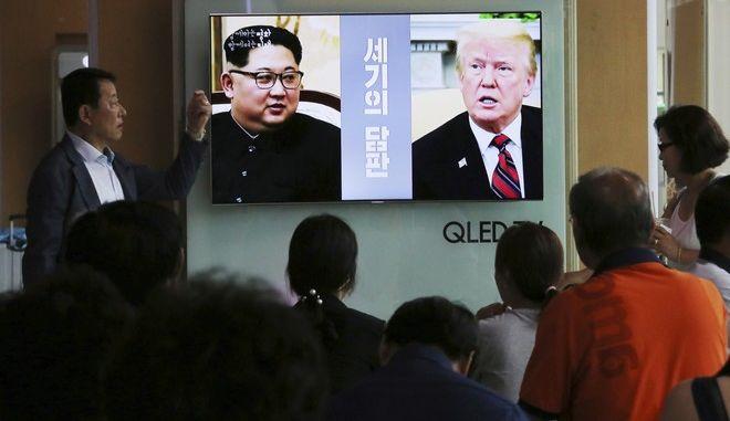 Η συνάντηση μεταξύ του Τραμπ και του Κιμ θα είναι η πρώτη που πραγματοποιείται ποτέ μεταξύ εν ενεργεία προέδρων των ΗΠΑ και της Βόρειας Κορέας