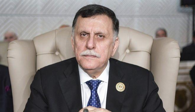 O Πρόεδρος της Λιβύης Φαγιέτ Αλ Σάρατζ