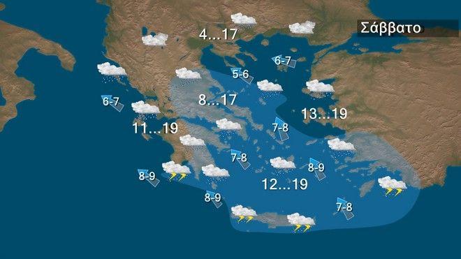 Επιδείνωση του καιρού: Βροχές και καταιγίδες σε όλη τη χώρα