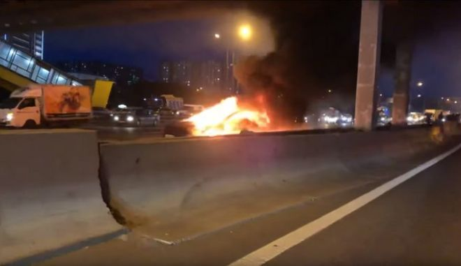 Εικόνα από το ατύχημα με το Tesla