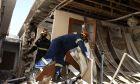 Καταστροφές από το σεισμό στο Δαμάσι.