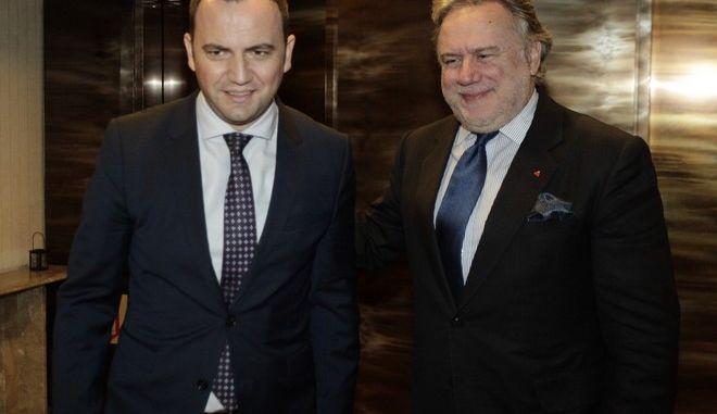 Συναντηση του Αναπλ Υπ. Εξ  Γιωργου Κατρουγκαλου με τον Αναπληρωτή Πρωθυπουργό της πρώην Γιουγκοσλαβικής Δημοκρατίας της Μακεδονίας, αρμόδιο για τις σχέσεις με την ΕΕ, B. Osmani --ΦΩΤΟ  ΧΡΗΣΤΟΣ ΜΠΟΝΗΣ//EUROKINISSI