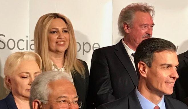 H Πρόεδρος του Κινήματος Αλλαγής, Φώφη Γεννηματά, στην Προσύνοδο των ηγετών του Ευρωπαϊκού Σοσιαλιστικού Κόμματος - PES