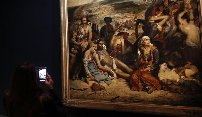 """Ο πίνακας του Delacroix """"η σφαγή της Χίου"""""""