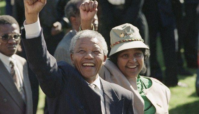 Νέλσον και Γουίνι Μαντέλα (AP Photo/John Parkin, File)
