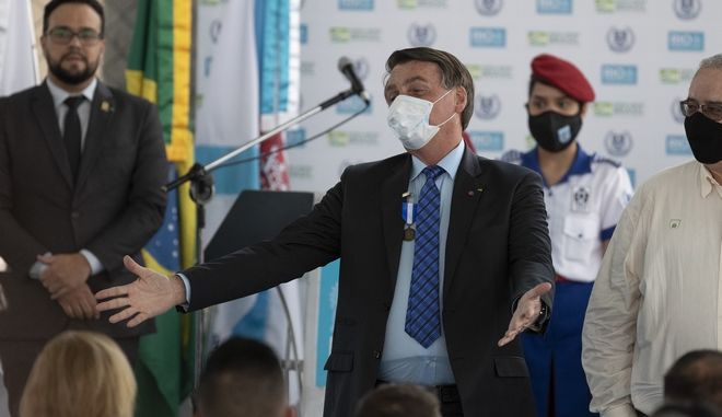 Ο Ζαΐχ Μπολσονάρο σε εκδήλωση στο Ρίο ντε Τζανέιρο τον Αύγουστο του 2020