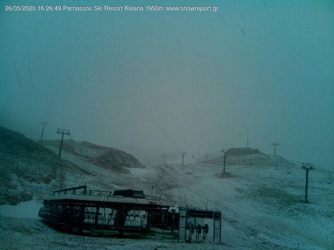 Κακοκαιρία: Χιόνισε στον Παρνασσό