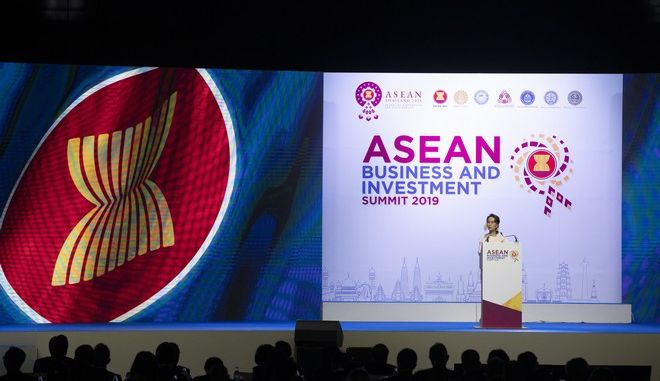 Εικόνα από τη σύνοδο ASEAN στην Ταϊλάνδη