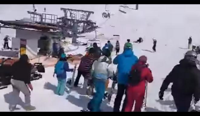Γεωργία: Σοκαριστικά βίντεο από τη στιγμή που λιφτ σε χιονοδρομικό κέντρο βγαίνει εκτός ελέγχου