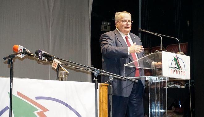 """Ομιλία του του Νίκου Κοτζιά στην Κομοτηνή σε πολιτική εκδήλωση του κινήματος """"ΠΡΑΤΤΩ"""", Αρχείο"""