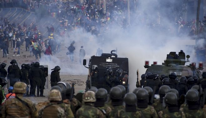 Επεισόδια αστυνομικών δυνάμεων και υποστηρικτών του Έβο Μοράλες στη Σακάμπά της Βολιβίας