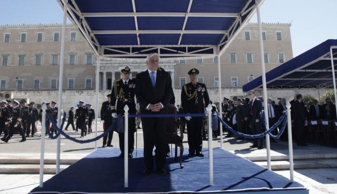 Στρατιωτική παρέλαση για την εθνική επέτειο της 25ης Μαρτίου 1821, το Σάββατο 25 Μαρτίου 2017, στην Αθήνα. (EUROKINISSI/ΓΙΑΝΝΗΣ ΠΑΝΑΓΟΠΟΥΛΟΣ)
