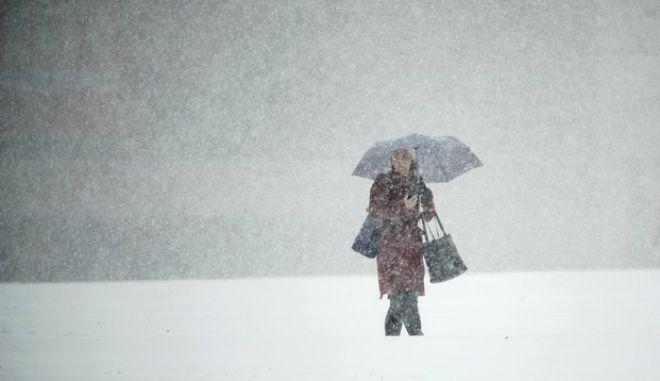 Στιγμιότυπο από τον χιονιά