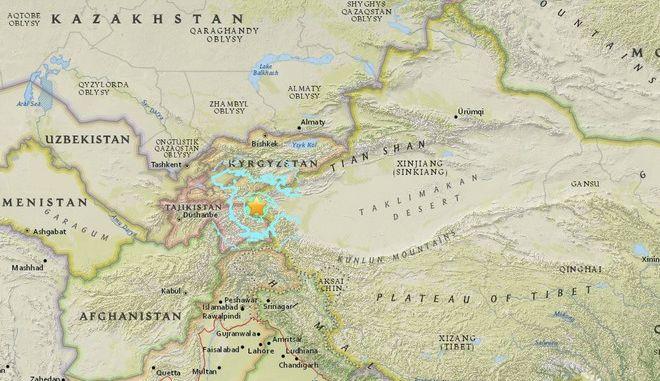 Σεισμός 6,5 Ρίχτερ έπληξε το βορειοανατολικό Τατζικιστάν