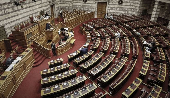 Η αίθουσα της ολομέλειας στη Βουλή