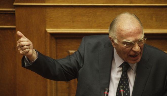ΑΘΗΝΑ-ΒΟΥΛΗ-Προ ημερησίας διάταξης συζήτηση στη Βουλή για θέματα της Δικαιοσύνης. Την πρωτοβουλία για τη συζήτηση των πολιτικών αρχηγών είχε αναλάβει με επιστολή του προς τον πρόεδρο της Βουλής, Νίκο Βούτση, ο Πρωθυπουργός Αλέξης Τσίπρας// ΣΤΗ ΦΩΤΟΓΡΑΦΙΑ Ο ΒΑΣΙΛΗΣ ΛΕΒΕΝΤΗΣ ΕΝΩΣΗ ΚΕΝΤΡΩΩΝ.(Eurokinissi- ΚΟΝΤΑΡΙΝΗΣ ΓΙΩΡΓΟΣ)