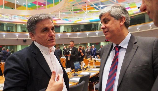 Ο Ευκλείδης Τσακαλώτος σε συνεδρίαση του Eurogroup