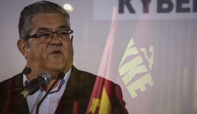 Ομιλία του ΓΓ της ΚΕ του ΚΚΕ Δημήτρη Κουτσούμπα στην πλατεία Συντάγματος