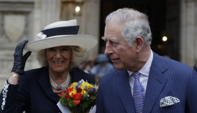 Britain's Prince Charles and Camilla, the Duchess of Cornwall leave after attending the Commonwealth Service at Westminster Abbey in London, Monday, March 12, 2018. Organised by The Royal Commonwealth Society, the Commonwealth Service is the largest annual inter-faith gathering in the United Kingdom. (AP Photo/Kirsty Wigglesworth, pool)