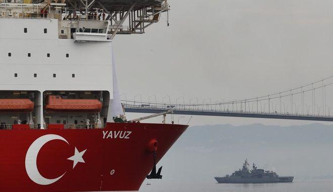 Το πλωτό γεωτρύπανο Yavuz στη θάλασσα του Μαρμαρά τον Ιούνιο του 2019
