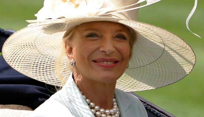 Princess Michael of Kent looks at the crowd from her carriage in the paddock on the second  day of the annual Royal Ascot horse race meeting, Ascot, England  Wednesday June 21, 2006. Wednesday is the second day of the five-day Royal Ascot meeting attended by Britain's Queen Elizabeth II and other members of Britain's Royal Family. (AP Photo/Alastair Grant)
