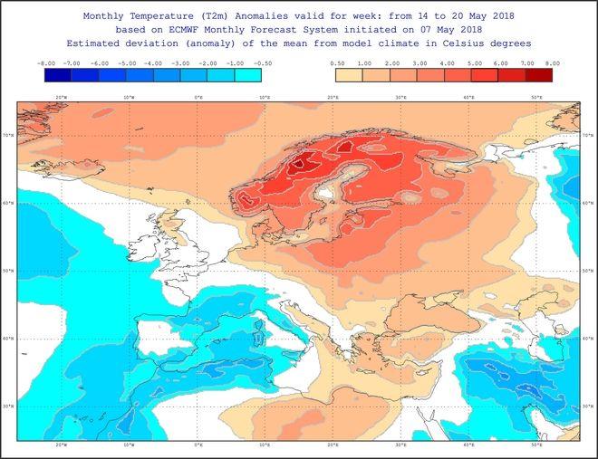 Ζέστη στην Ευρώπη