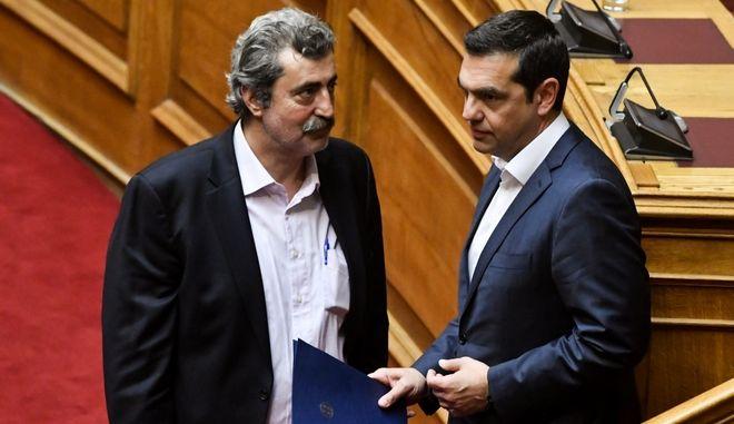 Αλέξης Τσίπρας και Παύλος Πολάκης στη Βουλή (φωτογραφία αρχείου)